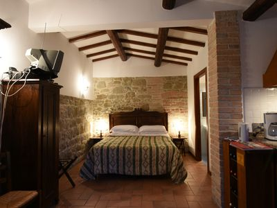 Photo for Farmhouse between Perugia and Assisi - Studio apartment Swimming pool