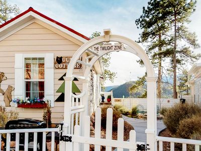 """Photo for NEW LISTING! """"Tiny home"""" cottage w/ mountain view, kitchen & firepit - dogs OK!"""