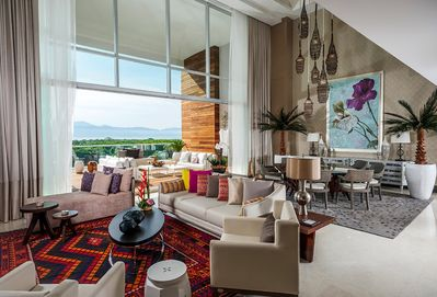 Expansive gorgeous living space for 12.  Grand Luxxe Nuevo Vallarta Mexico