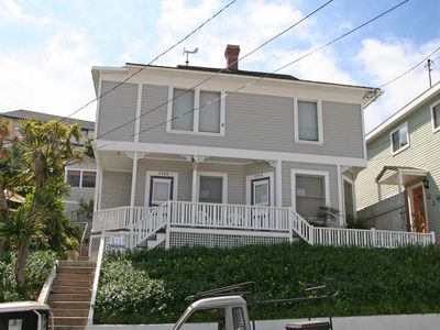 Photo for Charming Victorian Triplex, Roof top Deck, 2 Blocks to the Beach, WIFI