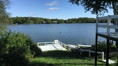 Photo for Privacy, space and gorgeous view of the lake from deck right outside your door