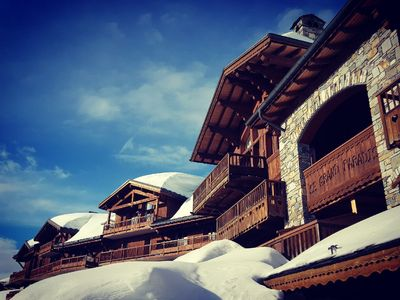Photo for Large 10m2 apartment of 120m2 with terrace La Rosiere center