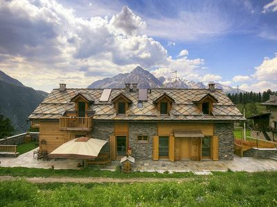 Photo for Modern and luxurious chalet - 1800 mt. high in the ski slopes, amazing views