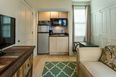 View of fully equipped kitchenette