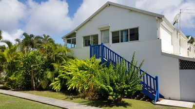 Photo for St Francois bright 3 rooms in tropical garden with swimming pool
