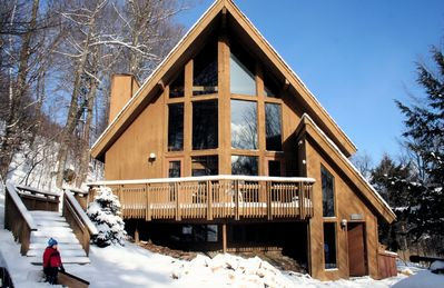 Photo for Killington Ski-In/Out Chalet 4 bedr, huge loft on Great Eastern Trail