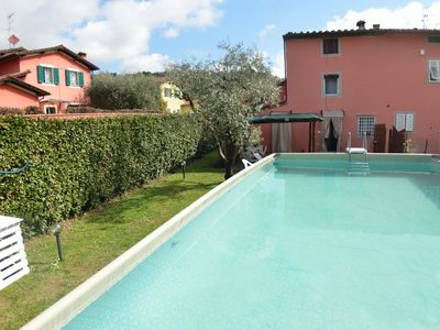 Photo for Beautiful  villa with WIFI, private pool, TV, veranda, pets allowed and parking, close to Lucca