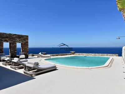 Photo for Unique waterfront villa with a swimming pool and direct access to the sea