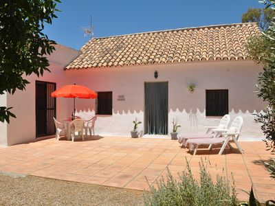 Photo for Beautiful one bedroom eco cottage in the countryside with pool.