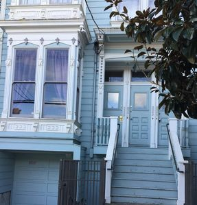 Photo for Beautiful Victorian home with high ceilings in central part of the Mission district. Home includes a large open kitchen space great from cooking and hosting friends for a dinner event. Steps away from great dining / drinking!