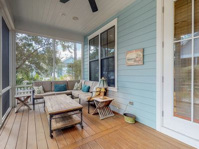 Photo for NEW LISTING! Gorgeous coastal home with shared pool and walking path to beach