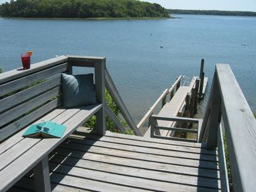 Cape Cod Waterfront Vacation Home  dock and 2 kayaks: