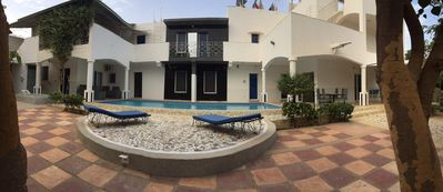 Photo for Rent rooms and suites in luxurious villa at night (Saly)