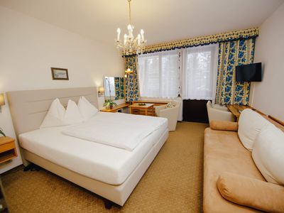 Photo for Double room with balcony - Berghotel Hinterstoder - in the middle of the ski area 1400m