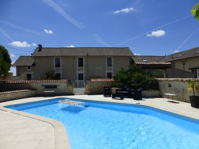 Photo for Luxury French Country House, private pool, 5 bedrooms, 3.5 bath, sleeps 11-14