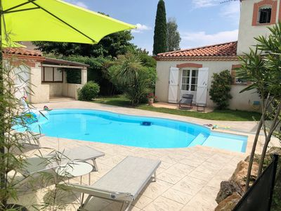 Photo for Great House with heated pool close to Toulouse