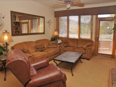 Comfortable and Stylish Living Room with Entertainment & Sleeper Sofa.