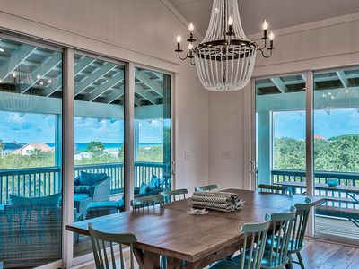 """Photo for """"Sea Glass"""" 2 Master Suites. Elevator. Gas Grill. Bikes. Treetop Gulf Views!"""