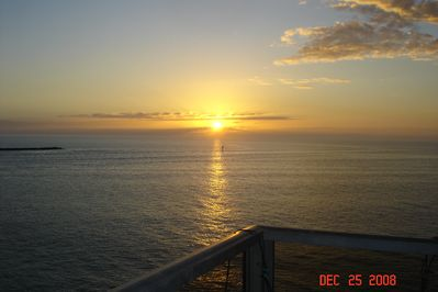 Sunset from the balcony.