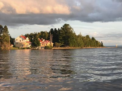 Boat view of property