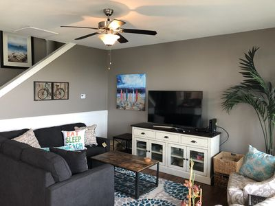 Family Room with all new furniture and TV!