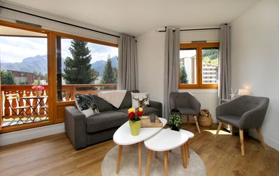 Photo for Deux Alpes apartment at the foot of the slopes 5/7 pers in the heart of the resort