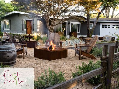 Photo for Modern Wine Country Cottage in Historic Healdsburg, Premiere Location