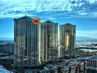 Photo for NEW OWNERS TOP 38 FLOOR  PENTHOUSES STRIP CORNER VIEW w BALCONY-THE BEST!