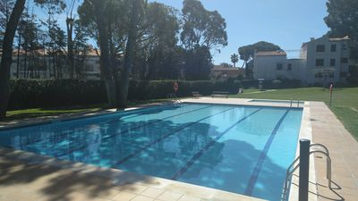 Photo for Beautiful apartment with pool and huge community garden in Calella de Palafrugell
