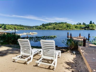 Photo for NEW LISTING! Dog-friendly lakefront townhome w/hot tub, shared dock, great views