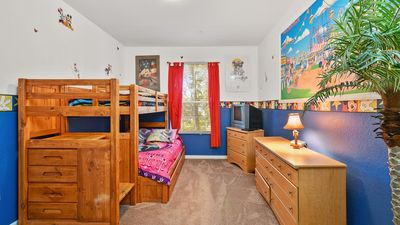Kids wills get their own Disney Bunk Bed Room! Can sleep up to 4 with Trundlebed