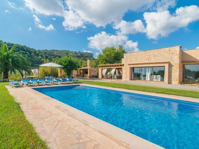 Photo for PUIG DE SA BASSA - Beautiful villa with private pool and sea views, only 550 metres from Son Servera