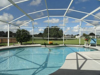 Photo for Fantastic Sunny Pool, No Backyard Neighbors & only 4 miles to Disney - Free Wifi