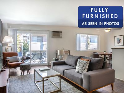 Photo for Swanky Westwood 1BR with W/D + Rooftop, in central location by Blueground