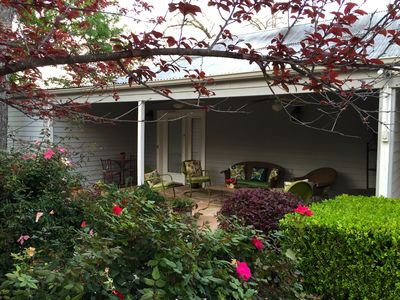 Private entrance and porch to the Juniper Room