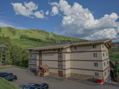 Photo for End of Summer Deals! On Mountain, Modern w/Balcony & Views, Walk to Restaurants, Community Hot Tub