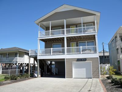 Photo for 5 BR private home steps to beach in Cherry Grove with pool, Ocean views,clean