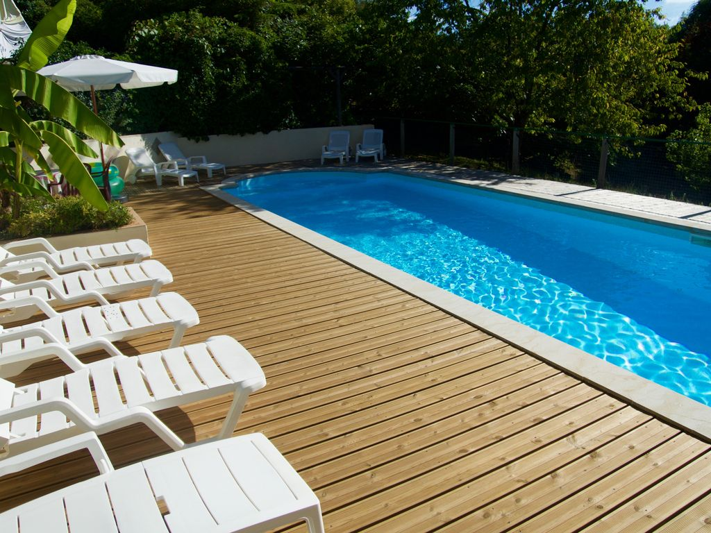 Holiday House 10p 5p Dordogne France Swimming Pool Adsl Beautifull Garden Saint Raphael