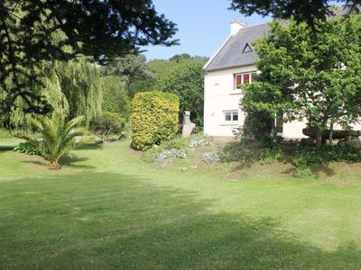 Photo for Superb ground floor, sea view, near Perros Guirec in, the pink granite coast