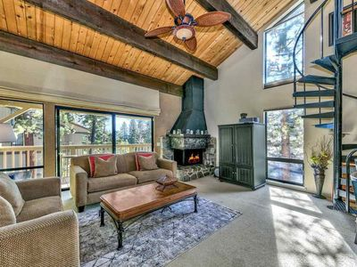 Photo for Modern cabin w/ balcony view, shared pool/hot tub, & large loft - near Northstar