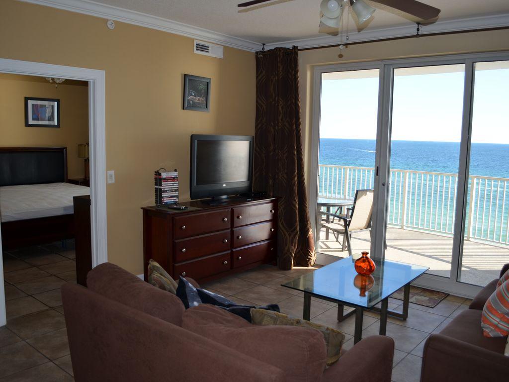Luxury 2 bedroom condo right at ocean front ocean view ocean panama city beach florida for 3 bedroom condos for rent in panama city beach fl