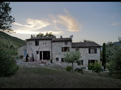 Photo for Appartemento Kuno, 2 double rooms, living room, bath in Casa Colondello, a paradise on earth