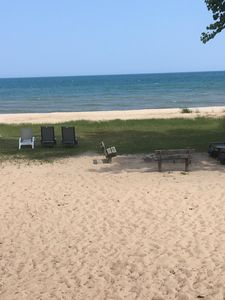View of Beach From deck of House.  Beautiful Sugar Sand Beach.