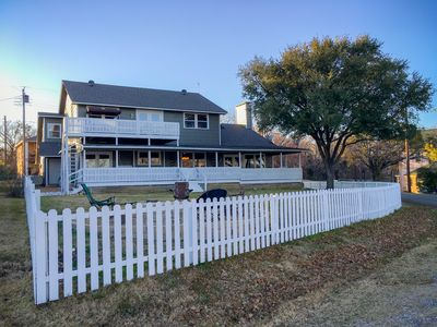 Photo for GORGEOUS LAKE HOUSE ON TEXOMA!  POOL & POKER TABLE, FIREPIT, 2 PORCH SWINGS
