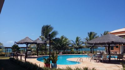 Photo for BEAUTIFUL AND CONVENIENT VILLAGE BEACHFRONT ON THE BEACH OF ITACIMIRIM BAHIA - BEACH AREI