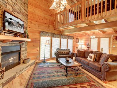 Bask in all the  ambiance of comfort and relaxation in your mountain cabin!