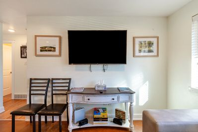 55' Smart t.v. with cable and netflix provided