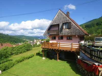 Photo for Holiday home with large garden, playground equipment, billiard table and magnificent view