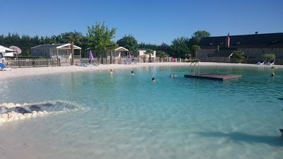 Photo for Mobil home 4 pers, on camping 4 stars, with lagoon, 7 km from Saumur.