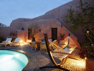 Photo for INO House, Santorini, 2 Bedrooms, Private Pool, Up to 6 Guests. Tranquility, Privacy, and a taste of traditional village life !